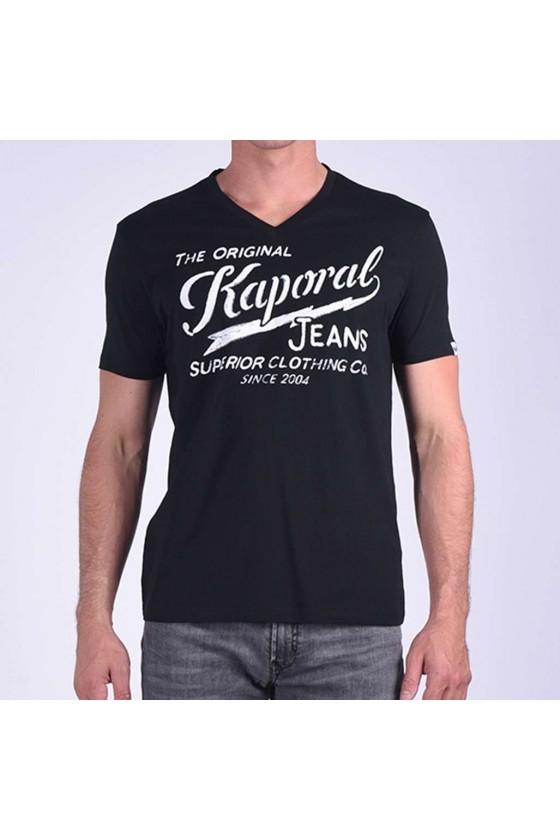 T shirt Kaporal manches courtes homme BRUCE Black
