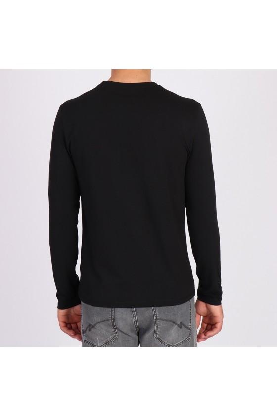 T shirt Kaporal manches longues homme Gerlu noir