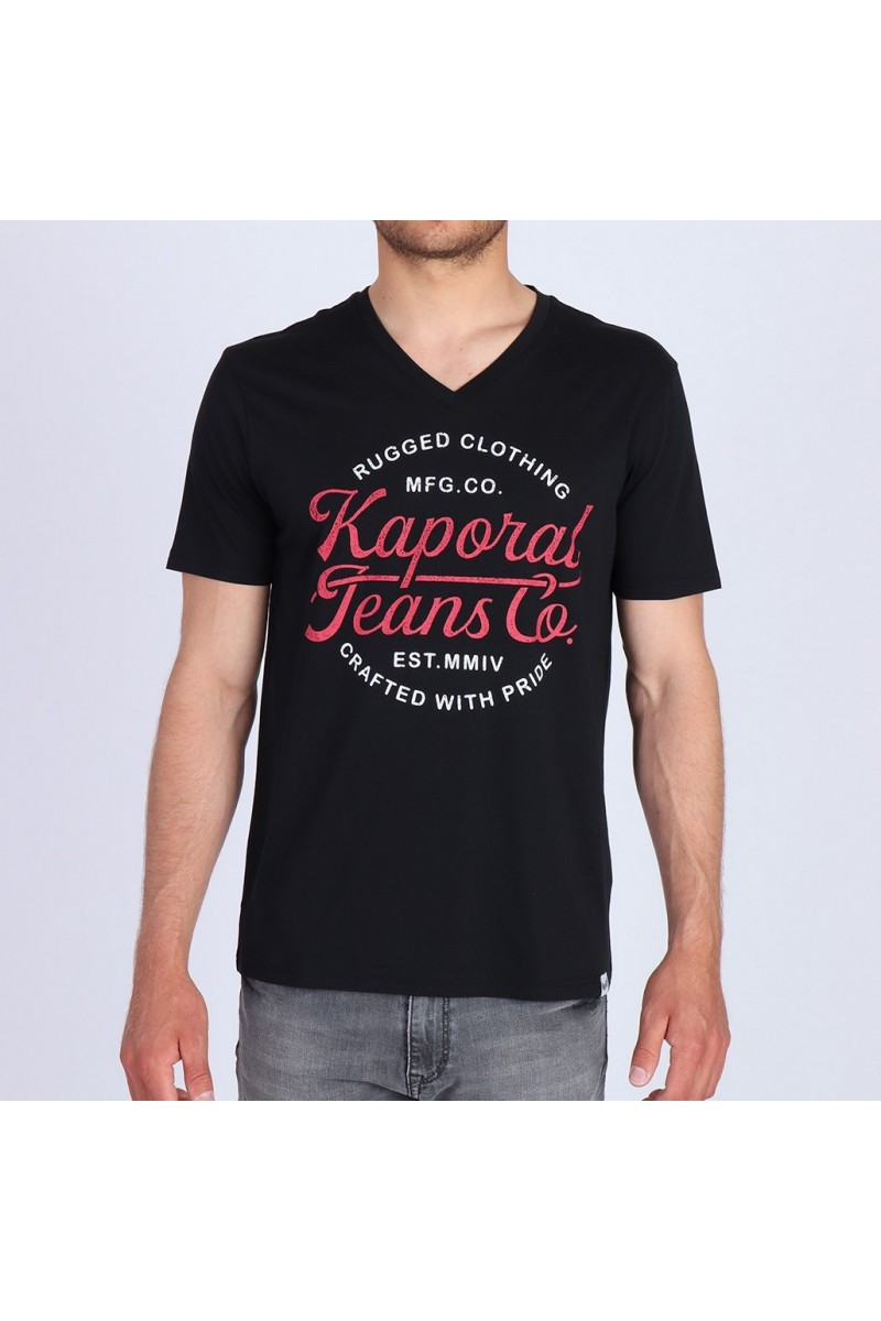 T shirt Kaporal manches courtes homme Obuce noir