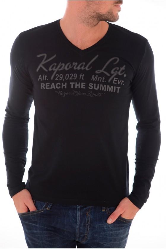 Tee shirt manches longues Homme KAPORAL 5 DOUG NOIR